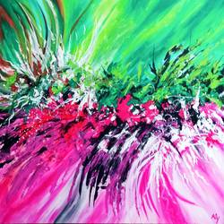 abstract 0034, 40 x 30 inch, aly finearts,40x30inch,canvas,paintings,abstract paintings,acrylic color,GAL0713922397