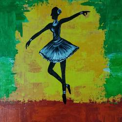 dancing girl, 12 x 16 inch, monideepa biswas sarkar,12x16inch,canvas,paintings,contemporary paintings,paintings for living room,paintings for hotel,paintings for school,acrylic color,GAL01061122407