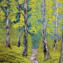 walk on the green side, 20 x 24 inch, prakash somasundaram,20x24inch,canvas,paintings,landscape paintings,acrylic color,GAL01182722433Nature,environment,Beauty,scenery,greenery