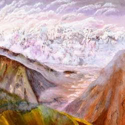barlacha pass himalayas, 36 x 36 inch, dipali deshpande,36x36inch,canvas,paintings,landscape paintings,nature paintings,contemporary paintings,paintings for dining room,paintings for living room,paintings for bedroom,paintings for office,paintings for kids room,paintings for hotel,paintings for school,paintings for hospital,oil,GAL016322436Nature,environment,Beauty,scenery,greenery
