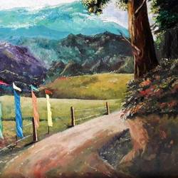 landscape , 20 x 16 inch, diptonil banerjee,20x16inch,canvas,paintings,landscape paintings,oil,GAL01103222442