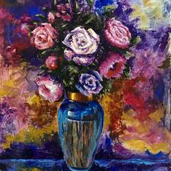 vibrant flowers, 18 x 25 inch, priyanka dutt,18x25inch,canvas,paintings,flower paintings,paintings for living room,paintings for bedroom,paintings for office,paintings for bathroom,paintings for hotel,paintings for living room,paintings for bedroom,paintings for office,paintings for bathroom,paintings for hotel,acrylic color,GAL087922447