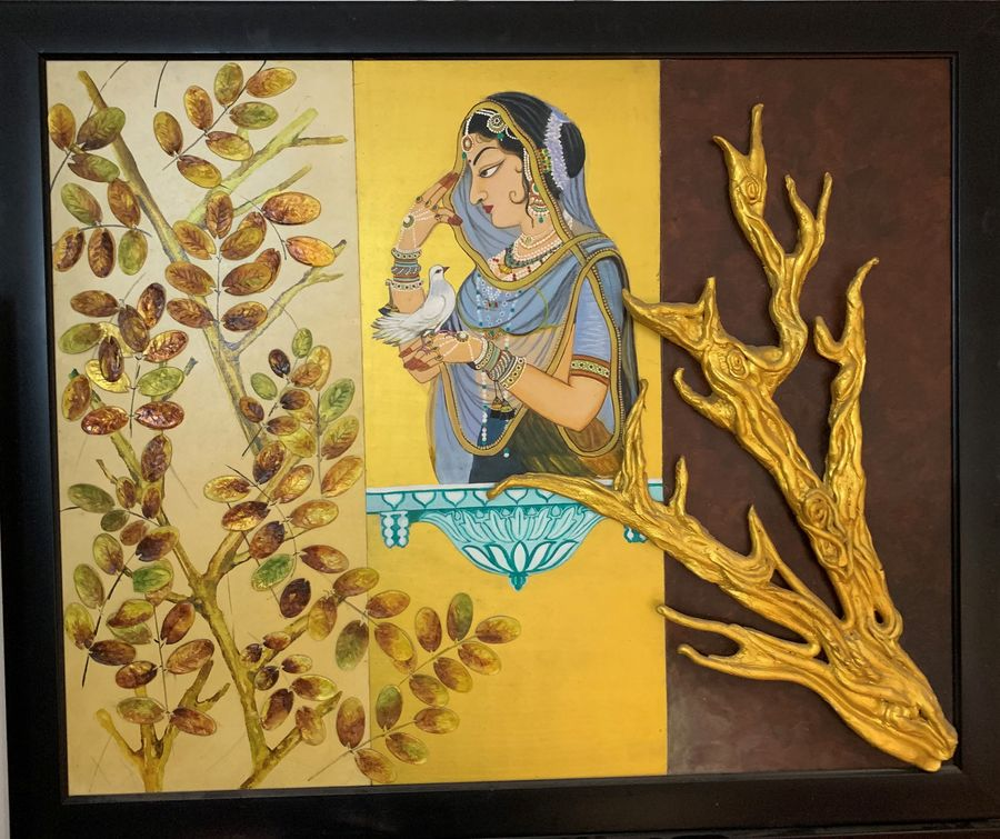 the golden, 25 x 31 inch, smiley chaudhary,25x31inch,canvas board,paintings,abstract paintings,figurative paintings,flower paintings,folk art paintings,modern art paintings,religious paintings,portrait paintings,nature paintings,abstract expressionist paintings,paintings for dining room,paintings for living room,paintings for bedroom,paintings for hotel,acrylic color,mixed media,GAL01229522468Nature,environment,Beauty,scenery,greenery