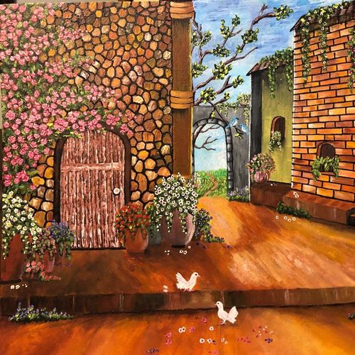 scape , 24 x 30 inch, sumathy  kanagarajan,24x30inch,canvas,paintings,portrait paintings,paintings for dining room,paintings for living room,paintings for bedroom,paintings for office,paintings for bathroom,paintings for kids room,paintings for hotel,paintings for kitchen,paintings for school,paintings for hospital,acrylic color,GAL01252122514