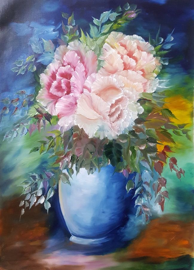 Buy Flower Vase Painting At Lowest Price By Sapna Kadyan