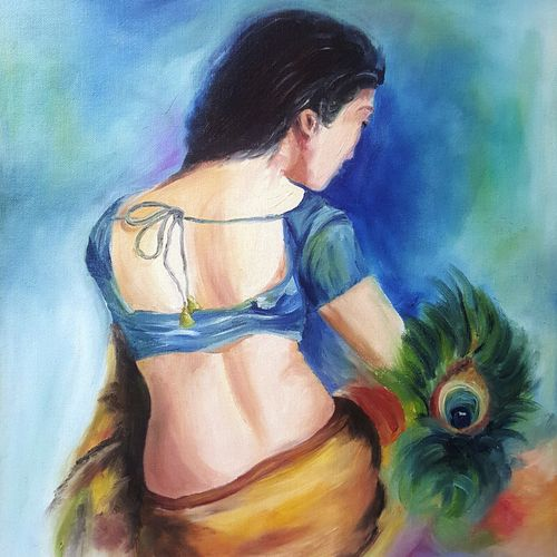 radha, 16 x 20 inch, sapna kadyan,16x20inch,canvas board,paintings,figurative paintings,conceptual paintings,still life paintings,radha krishna paintings,love paintings,paintings for dining room,paintings for living room,paintings for bedroom,paintings for office,paintings for bathroom,paintings for kids room,paintings for hotel,paintings for kitchen,paintings for school,paintings for hospital,oil,GAL01176022552heart,family,caring,happiness,forever,happy,trust,passion,romance,sweet,kiss,love,hugs,warm,fun,kisses,joy,friendship,marriage,chocolate,husband,wife,forever,caring,couple,sweetheart