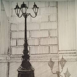 street light, 11 x 16 inch, gerald jerry,11x16inch,drawing paper,drawings,fine art drawings,paintings for living room,paintings for bedroom,ink color,GAL01251822564