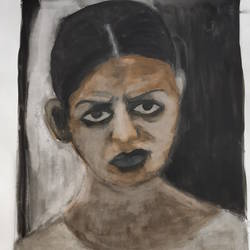 heartfelt anger, 12 x 17 inch, anindita ghosh,12x17inch,drawing paper,paintings,portrait paintings,paintings for dining room,poster color,GAL01065122566