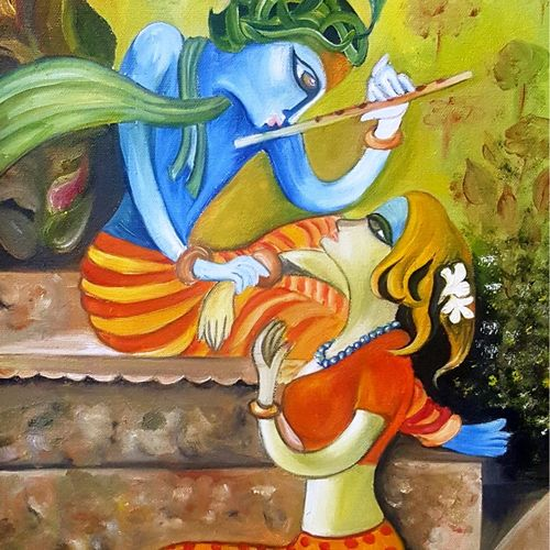 radha krishna, 15 x 26 inch, sapna kadyan,15x26inch,canvas board,paintings,folk art paintings,religious paintings,still life paintings,nature paintings,radha krishna paintings,love paintings,paintings for dining room,paintings for living room,paintings for bedroom,paintings for office,paintings for bathroom,paintings for kids room,paintings for hotel,paintings for kitchen,paintings for school,paintings for hospital,oil,GAL01176022585heart,family,caring,happiness,forever,happy,trust,passion,romance,sweet,kiss,love,hugs,warm,fun,kisses,joy,friendship,marriage,chocolate,husband,wife,forever,caring,couple,sweetheartNature,environment,Beauty,scenery,greenery