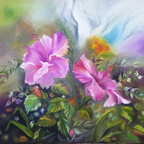 floral oil painting, 15 x 16 inch, sapna kadyan,15x16inch,canvas board,paintings,flower paintings,nature paintings,paintings for dining room,paintings for living room,paintings for bedroom,paintings for office,paintings for bathroom,paintings for kids room,paintings for hotel,paintings for kitchen,paintings for school,paintings for hospital,oil,GAL01176022588Nature,environment,Beauty,scenery,greenery