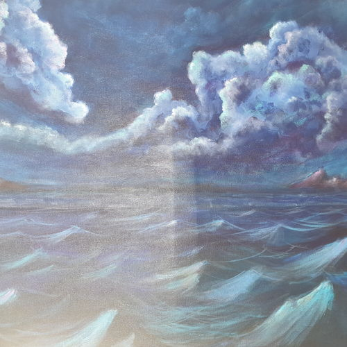 lull before storm, 30 x 24 inch, diiliip sinh,30x24inch,canvas,paintings,nature paintings,paintings for dining room,paintings for living room,paintings for hotel,paintings for dining room,paintings for living room,paintings for hotel,acrylic color,GAL01260022591Nature,environment,Beauty,scenery,greenery