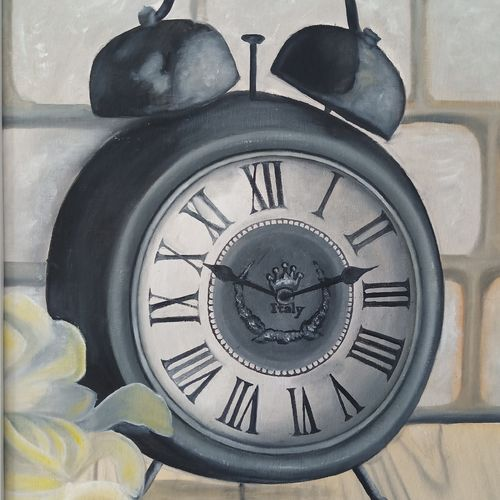 the antique clock, 16 x 23 inch, idris khaleel,16x23inch,canvas,paintings,photorealism paintings,paintings for dining room,paintings for living room,paintings for bedroom,paintings for office,paintings for kids room,paintings for hotel,paintings for hospital,paintings for dining room,paintings for living room,paintings for bedroom,paintings for office,paintings for kids room,paintings for hotel,paintings for hospital,oil,GAL01131722604