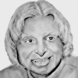 a.p.j.abdulm kalam, 8 x 11 inch, shivkumar  menon,8x11inch,drawing paper,drawings,art deco drawings,fine art drawings,portrait drawings,paintings for living room,graphite pencil,GAL098622609