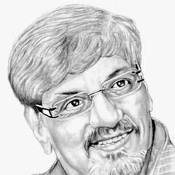 indian actor and director amol palekar, 8 x 11 inch, shivkumar  menon,8x11inch,drawing paper,drawings,art deco drawings,fine art drawings,portrait drawings,paintings for living room,graphite pencil,GAL098622611