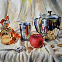 good morning, 20 x 16 inch, debojyoti boruah,20x16inch,canvas,paintings,still life paintings,photorealism paintings,realism paintings,realistic paintings,paintings for dining room,paintings for living room,paintings for office,paintings for hotel,paintings for kitchen,paintings for hospital,acrylic color,GAL01261422617
