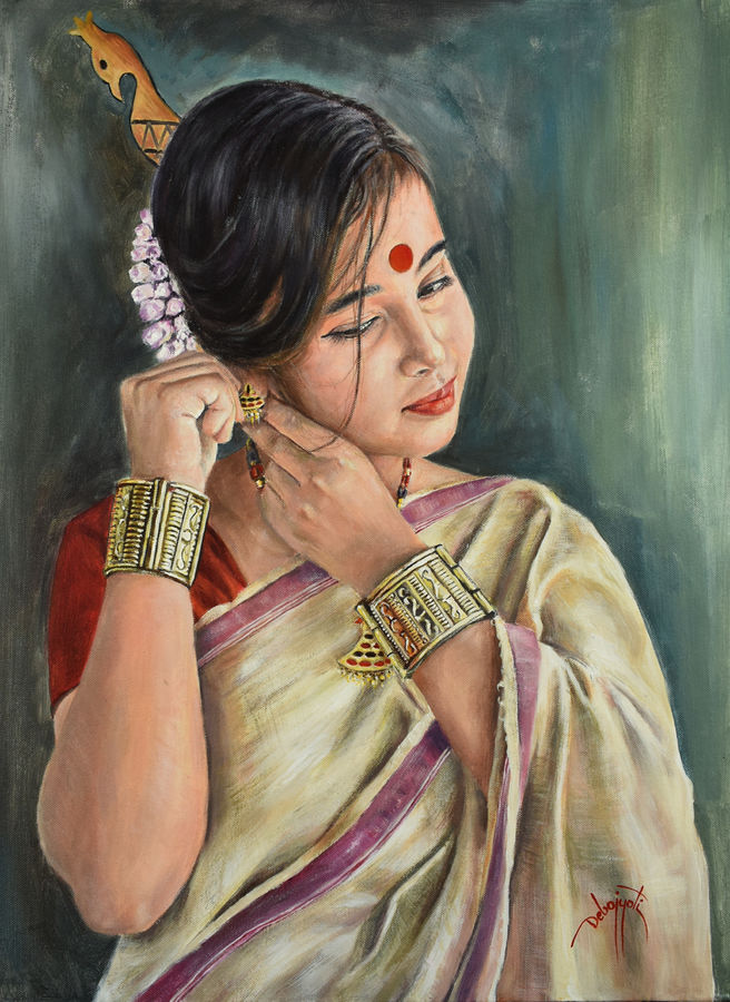 ready for the show, 18 x 24 inch, debojyoti boruah,18x24inch,canvas,paintings,figurative paintings,portrait paintings,photorealism paintings,photorealism,portraiture,realism paintings,realistic paintings,children paintings,paintings for dining room,paintings for living room,paintings for bedroom,paintings for office,paintings for bathroom,paintings for hotel,paintings for hospital,acrylic color,GAL01261422621