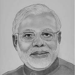 prime minister of india narendra modi, 8 x 11 inch, shivkumar  menon,8x11inch,drawing paper,drawings,art deco drawings,fine art drawings,portrait drawings,paintings for living room,graphite pencil,GAL098622622