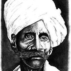 indian villager, 8 x 11 inch, shivkumar  menon,8x11inch,drawing paper,drawings,paintings for living room,art deco drawings,fine art drawings,portrait drawings,paintings for living room,graphite pencil,GAL098622627