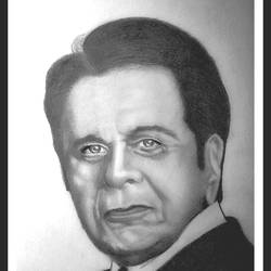 indian film actor dilip kumar, 8 x 11 inch, shivkumar  menon,8x11inch,drawing paper,drawings,paintings for living room,art deco drawings,fine art drawings,portrait drawings,paintings for living room,graphite pencil,GAL098622628