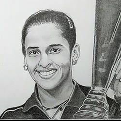 indian professional badminton player saina nehwal, 11 x 8 inch, shivkumar  menon,11x8inch,drawing paper,drawings,art deco drawings,fine art drawings,portrait drawings,paintings for living room,graphite pencil,GAL098622629