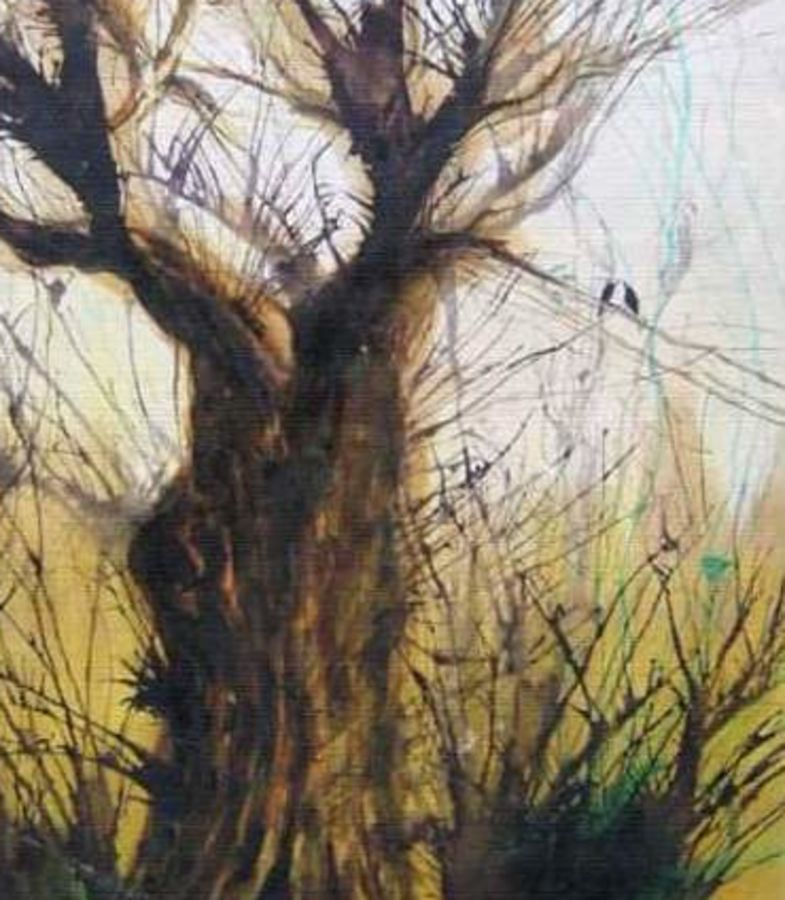 rebel, 18 x 24 inch, santanu dash,paintings for living room,nature paintings,thick paper,watercolor,18x24inch,GAL08622263Nature,environment,Beauty,scenery,greenery,trees,beautiful,leaves