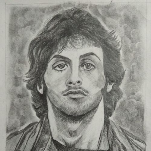 sylvester stallone in ramboo (first blood), 8 x 11 inch, manohar kasoju,8x11inch,drawing paper,drawings,graffiti drawings,portrait drawings,paintings for living room,paintings for bedroom,paintings for kids room,graphite pencil,GAL01147922682