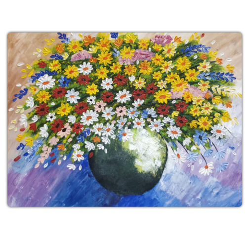 colourful flowers in a vase, 24 x 18 inch, sadaf khan,24x18inch,canvas,paintings,flower paintings,modern art paintings,paintings for dining room,paintings for living room,paintings for bedroom,paintings for office,paintings for hotel,acrylic color,GAL01247122689