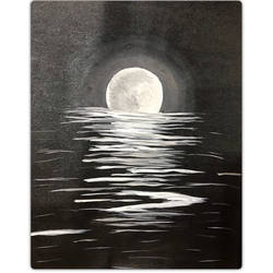 surreal moon, 14 x 18 inch, sadaf khan,14x18inch,canvas,paintings,landscape paintings,nature paintings,paintings for living room,paintings for bedroom,acrylic color,GAL01247122692Nature,environment,Beauty,scenery,greenery