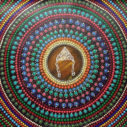 the power wheel, 17 x 21 inch, divya bhagat,17x21inch,canvas,paintings,buddha paintings,religious paintings,paintings for dining room,paintings for living room,paintings for bedroom,paintings for office,paintings for hotel,acrylic color,GAL0610322695