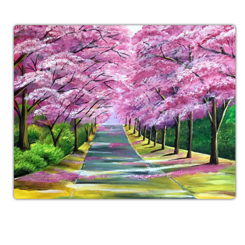 cherry blossoms, 18 x 14 inch, sadaf khan,18x14inch,canvas,paintings,flower paintings,landscape paintings,nature paintings,paintings for dining room,paintings for living room,paintings for bedroom,paintings for office,paintings for hotel,paintings for school,paintings for hospital,acrylic color,GAL01247122703Nature,environment,Beauty,scenery,greenery
