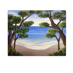 serenity of the beach, 18 x 14 inch, sadaf khan,18x14inch,canvas,paintings,landscape paintings,nature paintings,paintings for dining room,paintings for living room,paintings for bedroom,paintings for office,paintings for bathroom,paintings for kids room,paintings for hotel,paintings for school,paintings for hospital,acrylic color,GAL01247122705Nature,environment,Beauty,scenery,greenery