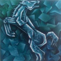 horse, 24 x 24 inch, sandeep salame,24x24inch,canvas,paintings,horse paintings,acrylic color,GAL0918622706