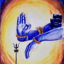 shiva - the natraja, 12 x 16 inch, ravi shankar ghosh,12x16inch,fabriano sheet,paintings,lord shiva paintings,paintings for living room,watercolor,GAL01275022722