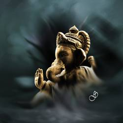 lord ganesha, 31 x 31 inch, dinesh ghodke,ganesha paintings,paintings for living room,paintings for office,canvas,acrylic color,31x31inch,GAL08682276,vinayak,ekadanta,ganpati,lambodar,peace,devotion,religious,lord ganesha,lordganpati,ganpati,ganesha,lord ganesh,elephant god,religious,ganpati bappa morya,mouse,mushakraj,ladoo,sweets