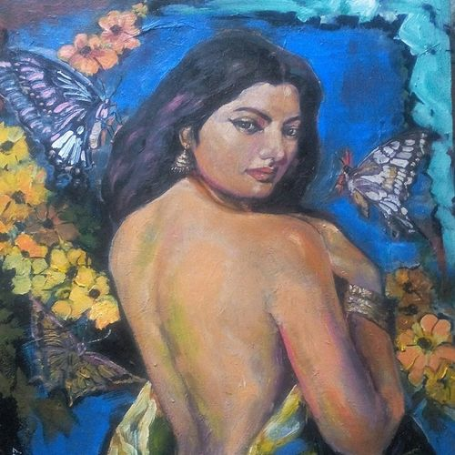 nature all beauty, 24 x 30 inch, debdas maumder,24x30inch,canvas,paintings,figurative paintings,paintings for bedroom,paintings for hotel,acrylic color,GAL065522762