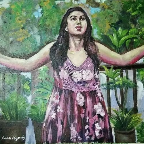 feeling of freedom , 30 x 36 inch, debdas maumder,30x36inch,canvas,paintings,figurative paintings,portrait paintings,paintings for dining room,paintings for living room,paintings for bedroom,paintings for office,acrylic color,GAL065522766