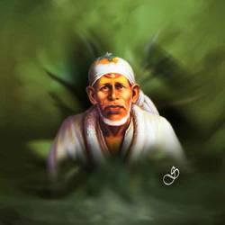 sai baba, 30 x 30 inch, dinesh ghodke,portrait paintings,paintings for living room,paintings for office,canvas,acrylic color,30x30inch,GAL08682277