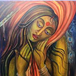 panchali, 24 x 30 inch, sangita pradhan,24x30inch,canvas,paintings,modern art paintings,conceptual paintings,religious paintings,abstract expressionist paintings,expressionist paintings,illustration paintings,acrylic color,GAL01281122772