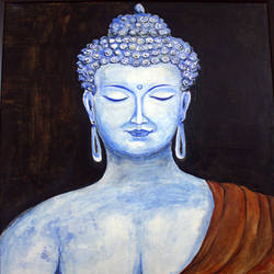 the lord buddha, 16 x 20 inch, satyanarayan bairagi,16x20inch,canvas,paintings,buddha paintings,paintings for dining room,paintings for living room,paintings for bedroom,paintings for office,paintings for kids room,paintings for hotel,paintings for school,paintings for hospital,acrylic color,GAL0361022774