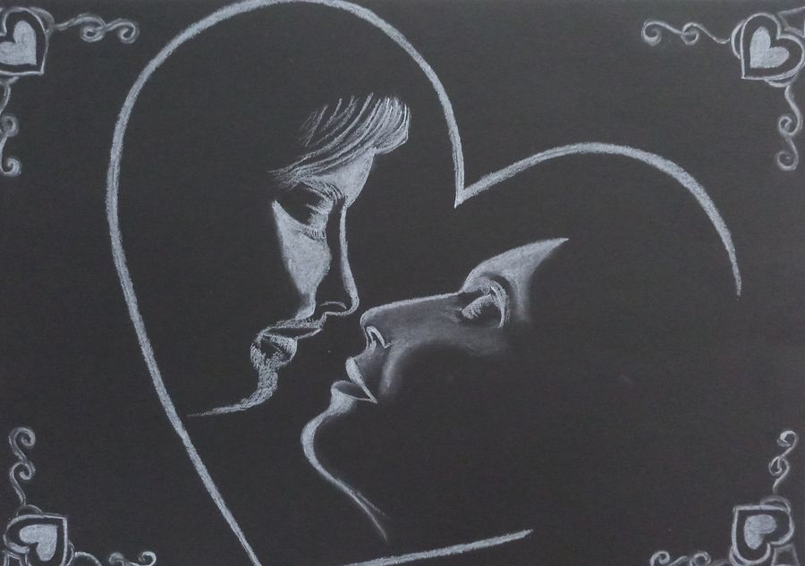 valentine love special , 17 x 12 inch, sandhya kumari,17x12inch,drawing paper,paintings,figurative paintings,love paintings,paintings for dining room,paintings for living room,paintings for bedroom,paintings for office,paintings for hotel,paintings for kitchen,paintings for school,paintings for hospital,charcoal,GAL0365922780