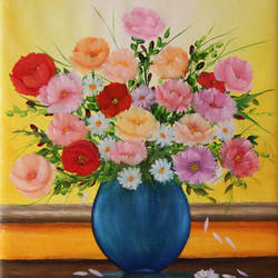 flower vase, 16 x 20 inch, goutami mishra,16x20inch,canvas,paintings,flower paintings,still life paintings,nature paintings,photorealism paintings,photorealism,realism paintings,contemporary paintings,realistic paintings,paintings for dining room,paintings for living room,paintings for bedroom,paintings for office,paintings for kids room,paintings for hotel,paintings for school,paintings for hospital,paintings for dining room,paintings for living room,paintings for bedroom,paintings for office,paintings for kids room,paintings for hotel,paintings for school,paintings for hospital,oil color,GAL046522784