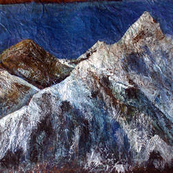 himalaya, 20 x 16 inch, satyanarayan bairagi,20x16inch,handmade paper,paintings,landscape paintings,expressionist paintings,paintings for dining room,paintings for living room,paintings for bedroom,paintings for office,paintings for kids room,paintings for hotel,paintings for school,paintings for hospital,acrylic color,GAL0361022788
