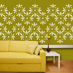 wall stencil: exclusive natural design wall stencil , 1 stencil (size 12x12 inches) | reusable | diy, 12 x 12 inch, wall stencil designs,12x12inch,ohp plastic sheets,flower designs,plastic,GAL0122802,GAL0122802