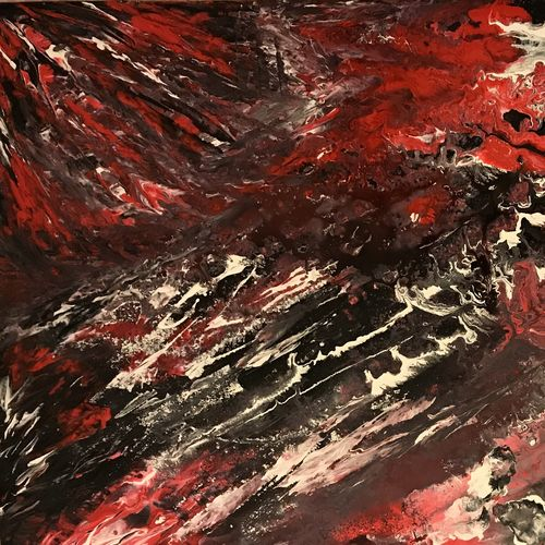 battle won , 23 x 37 inch, natassha art,23x37inch,canvas,paintings,abstract paintings,acrylic color,GAL01280322822