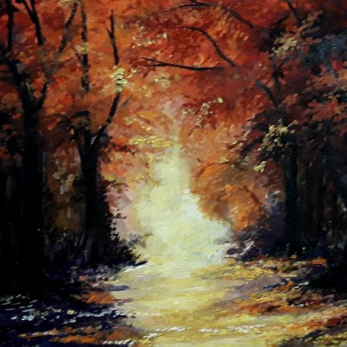 the way to the uncertainty , 14 x 12 inch, diptonil banerjee,14x12inch,handmade paper,paintings,nature paintings,mixed media,GAL01103222847