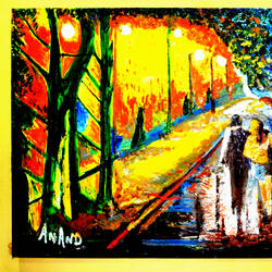 rainy day, 66 x 36 inch, anand manchiraju,66x36inch,canvas,paintings,landscape paintings,paintings for dining room,paintings for living room,paintings for bedroom,paintings for kids room,paintings for hotel,paintings for school,paintings for hospital,oil color,GAL01254022849