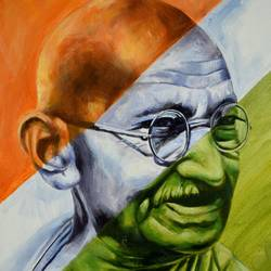 gandhi, 14 x 18 inch, debojyoti boruah,14x18inch,canvas,paintings,figurative paintings,portrait paintings,photorealism paintings,portraiture,realism paintings,paintings for dining room,paintings for living room,paintings for bedroom,paintings for office,paintings for kids room,paintings for hotel,paintings for school,paintings for hospital,paintings for dining room,paintings for living room,paintings for bedroom,paintings for office,paintings for kids room,paintings for hotel,paintings for school,paintings for hospital,acrylic color,GAL01261422864