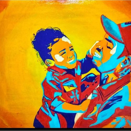 chris brown and royalty brown , 15 x 16 inch, gurudas kale,15x16inch,canvas,paintings,mother teresa paintings,kids paintings,kalighat painting,gond painting.,paintings for kids room,paintings for kitchen,paintings for school,expressionist drawings,impressionist drawings,minimalist drawings,modern drawings,paintings for living room,paintings for bedroom,paintings for kids room,acrylic color,GAL0778422865