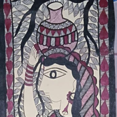 indian culture, 8 x 23 inch, neeraj jha,8x23inch,cartridge paper,paintings,madhubani paintings,paintings for dining room,paintings for living room,paintings for bedroom,paintings for office,paintings for bathroom,paintings for kids room,paintings for hotel,paintings for kitchen,paintings for school,paintings for hospital,fabric,natural color,GAL01278422907