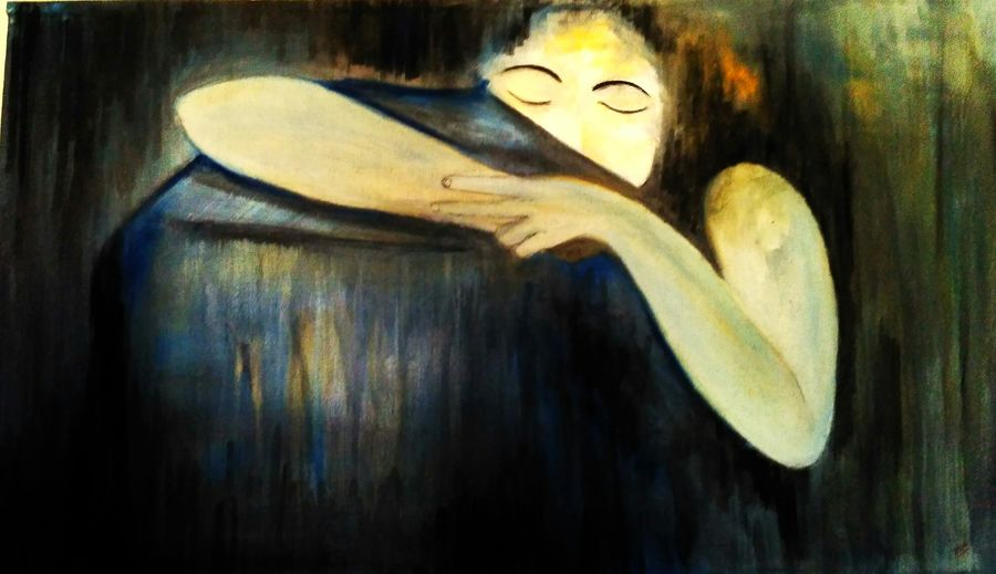 take me with u, 43 x 24 inch, deepak  rathore ,43x24inch,canvas,paintings,abstract paintings,modern art paintings,conceptual paintings,portrait paintings,illustration paintings,realism paintings,love paintings,paintings for dining room,paintings for living room,paintings for bedroom,paintings for office,paintings for kids room,paintings for hotel,paintings for kitchen,paintings for hospital,natural color,poster color,GAL01111422929